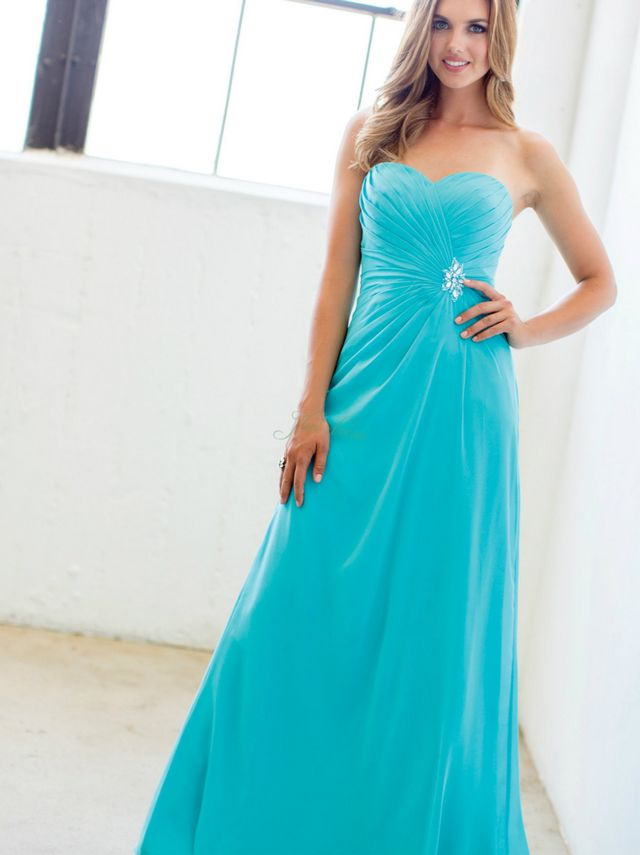 turquoise bridal gowns