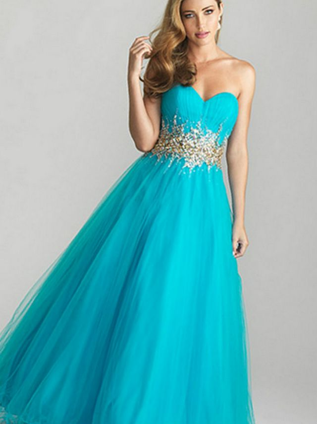 turquoise wedding dress photo
