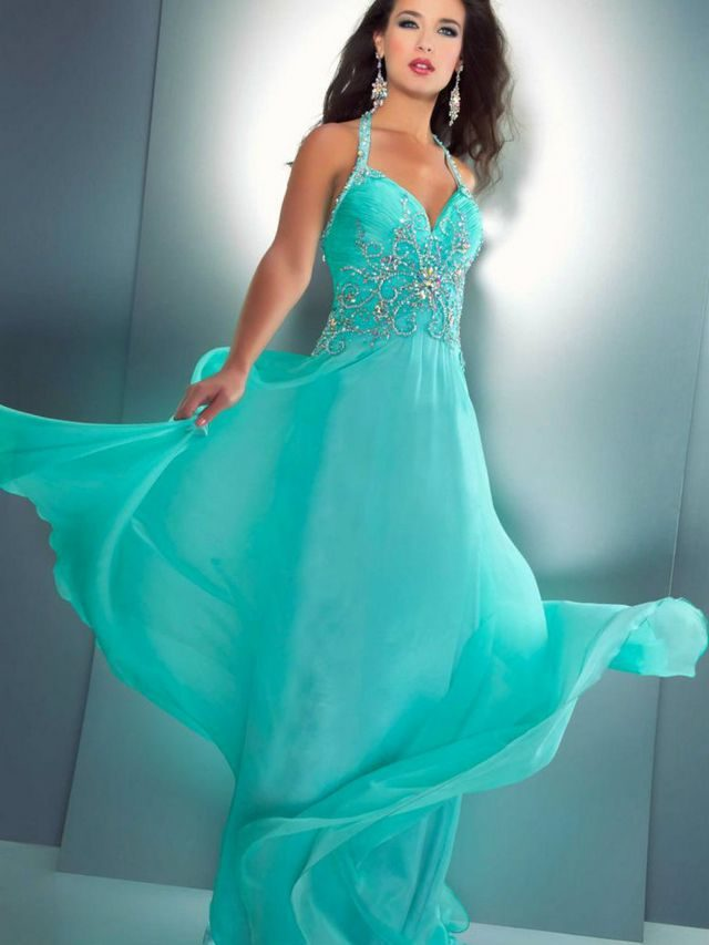 turquoise wedding dresses image