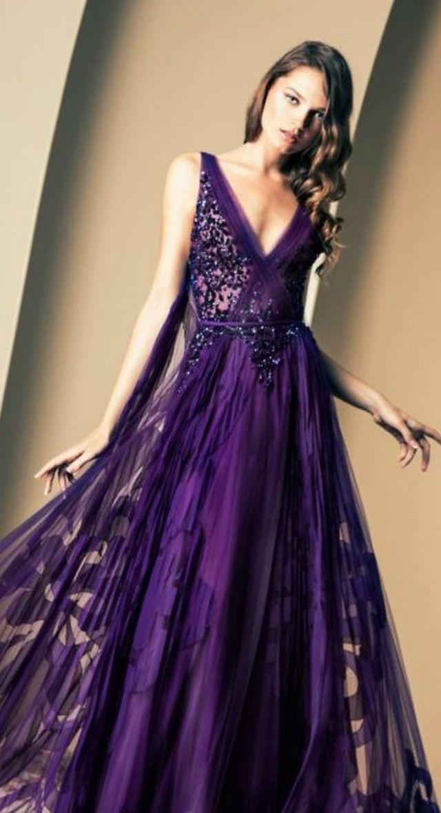 violet bridal dresses