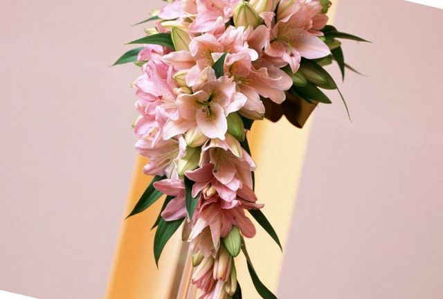 wedding bouquet of lilies
