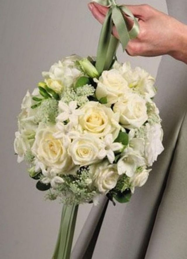 wedding bouquets freesias and roses