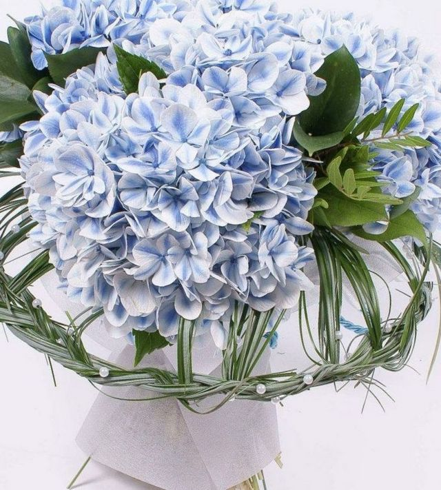 wedding bouquets made with hydrangeas