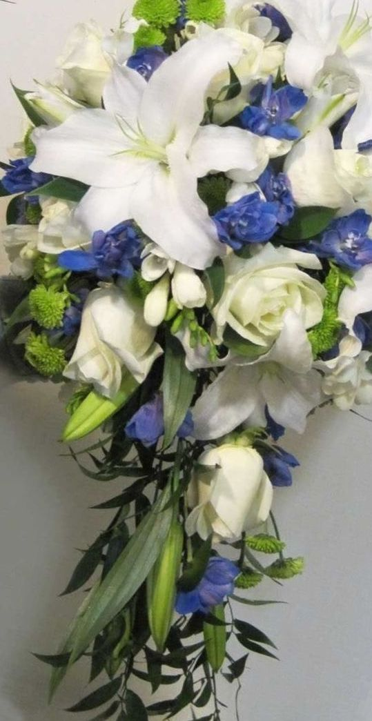 wedding bouquets with casablanca lilies