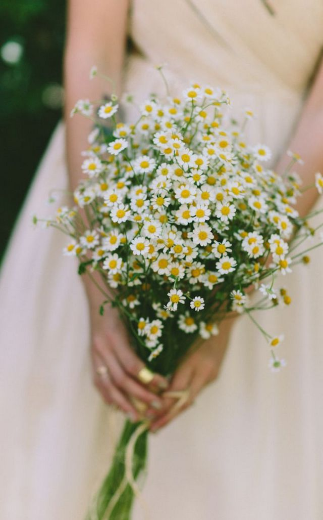 wedding bouquets with sunflowers and wildflowers