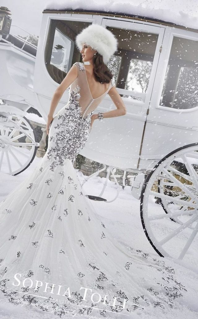 wedding dress for winter season