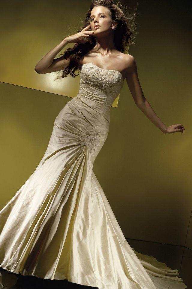 wedding dress gold color