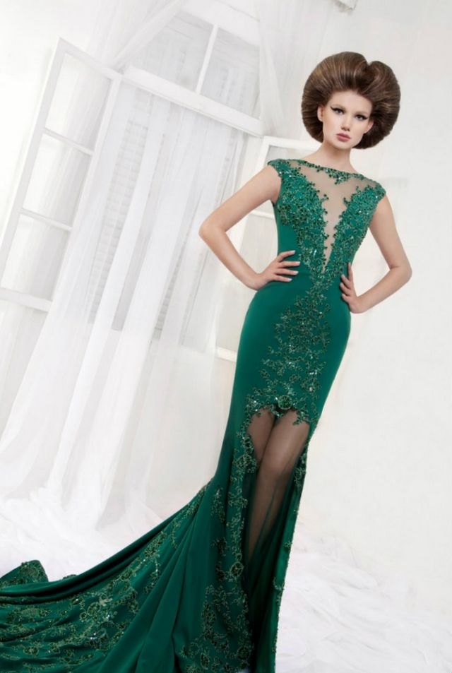 wedding dress green color