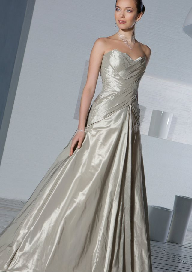 wedding dress grey color