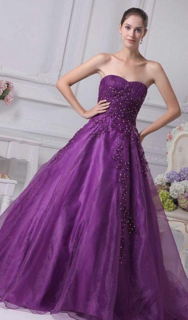 wedding dress purple color