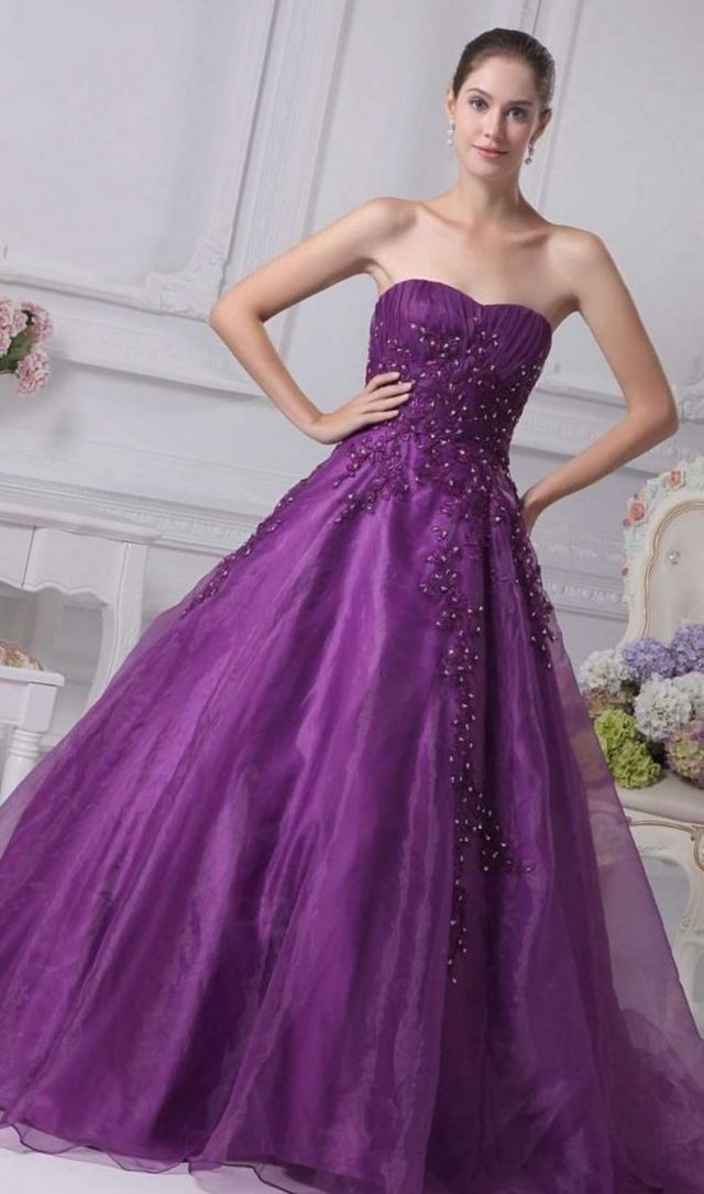wedding dress purple color