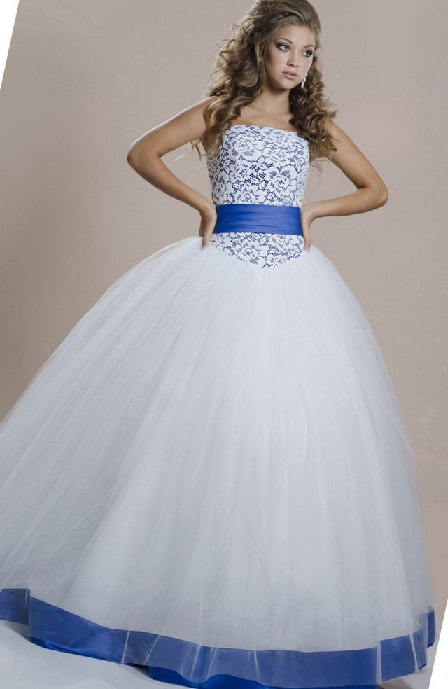 Blue wedding dresses for Blue sash for wedding dress