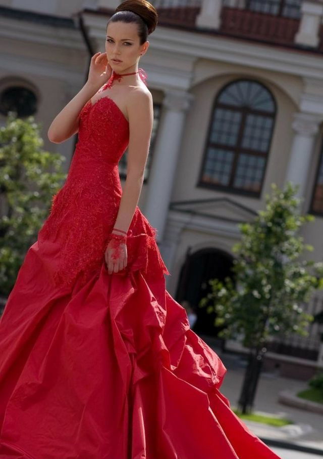 wedding dresses red color