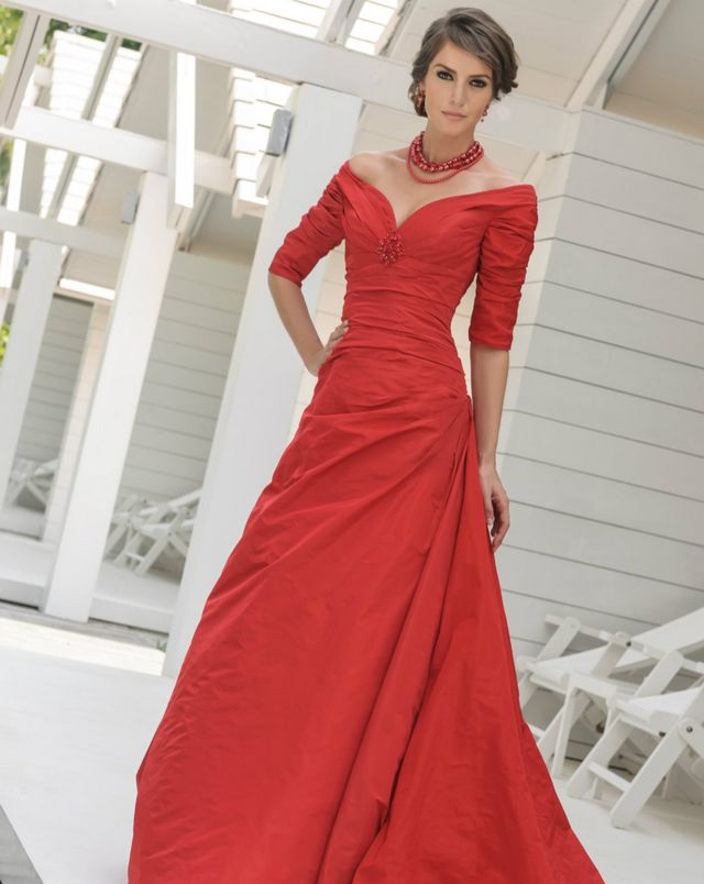 wedding dresses red shades