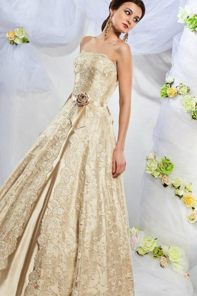 wedding dresses with gold belt