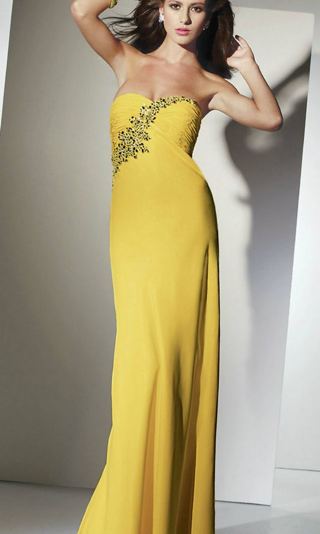 wedding dresses yellow color