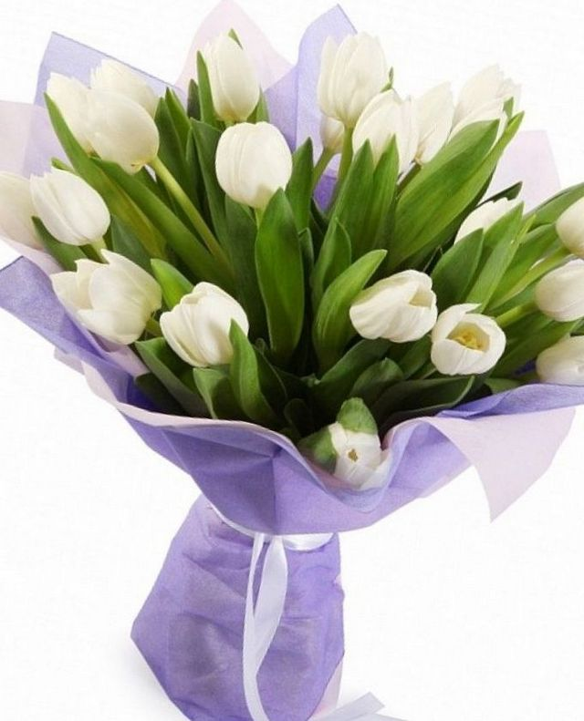 wedding flowers white tulips