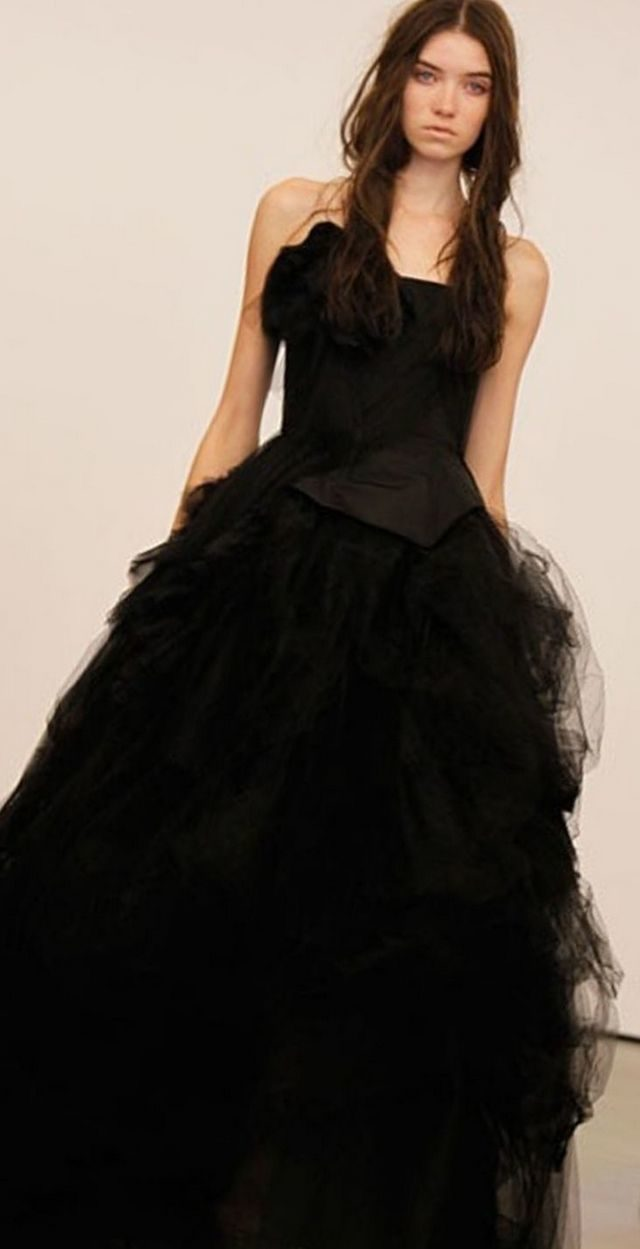 wedding gown black color
