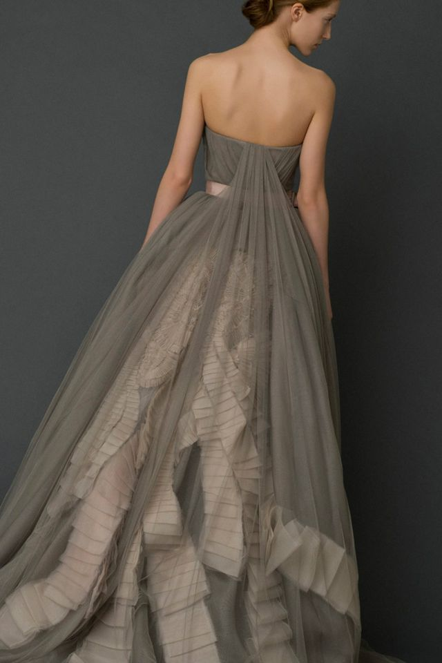 wedding gown gray color photo