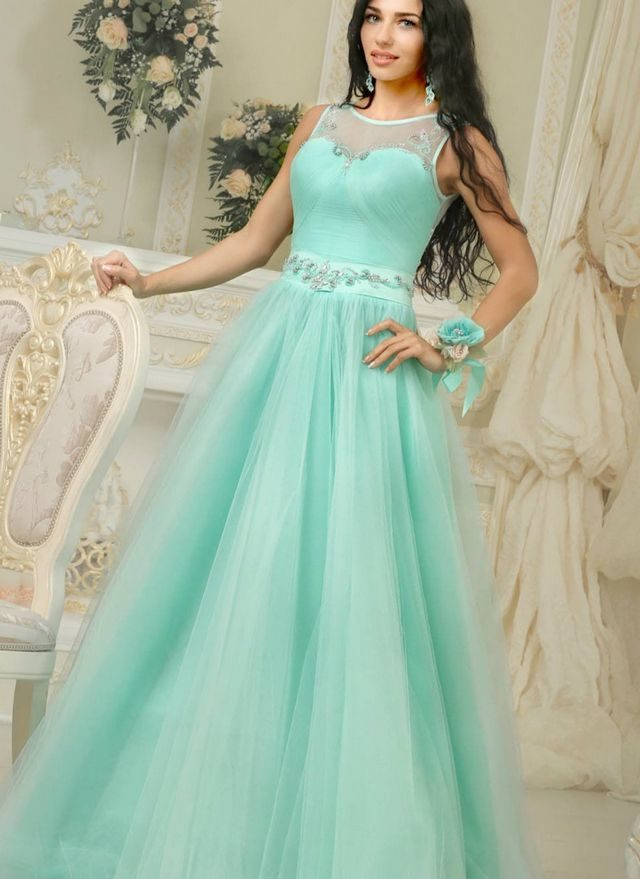 wedding gown turquoise color
