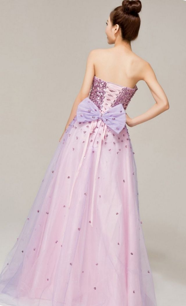 wedding gown violet color
