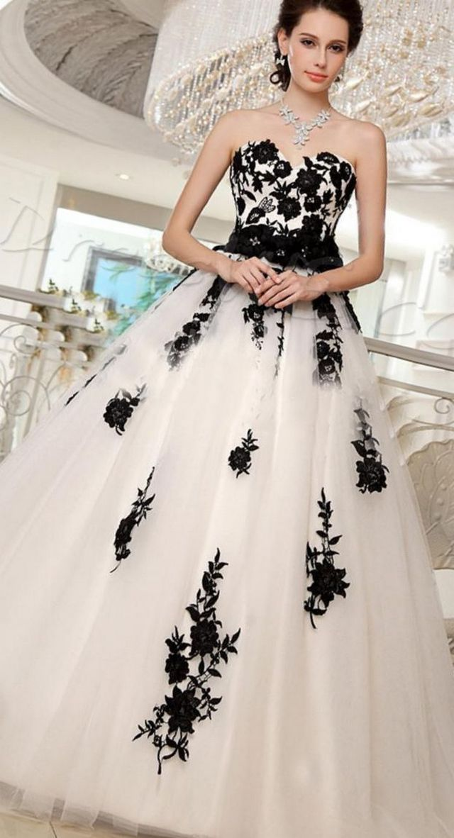wedding gown with black belt