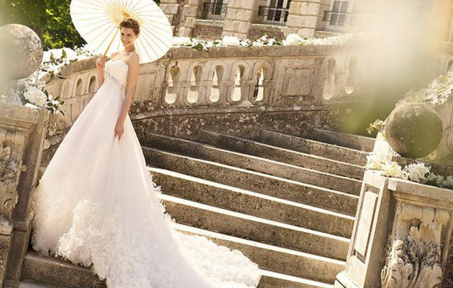wedding gowns with cathedral length train