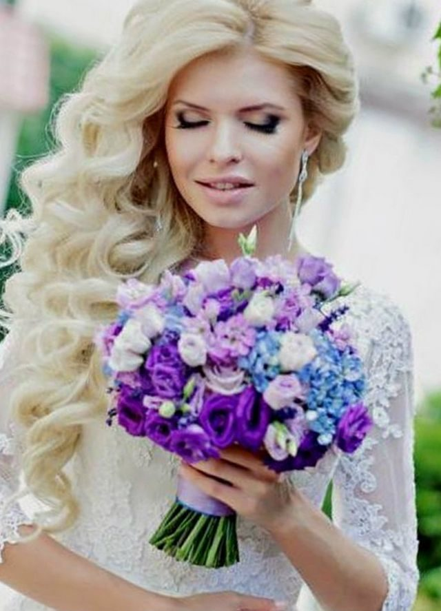 wedding hairdos curls for long hair