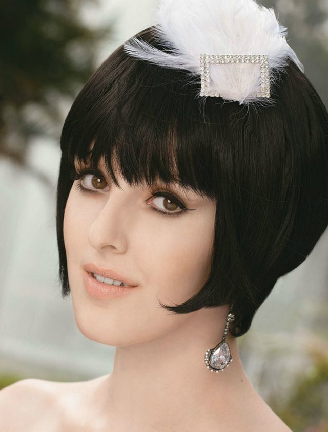 wedding hairdos for short hair without a veil