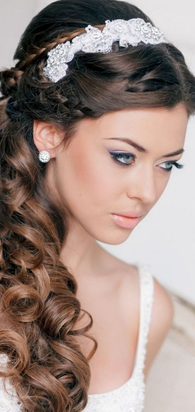 wedding hairdos with tiara