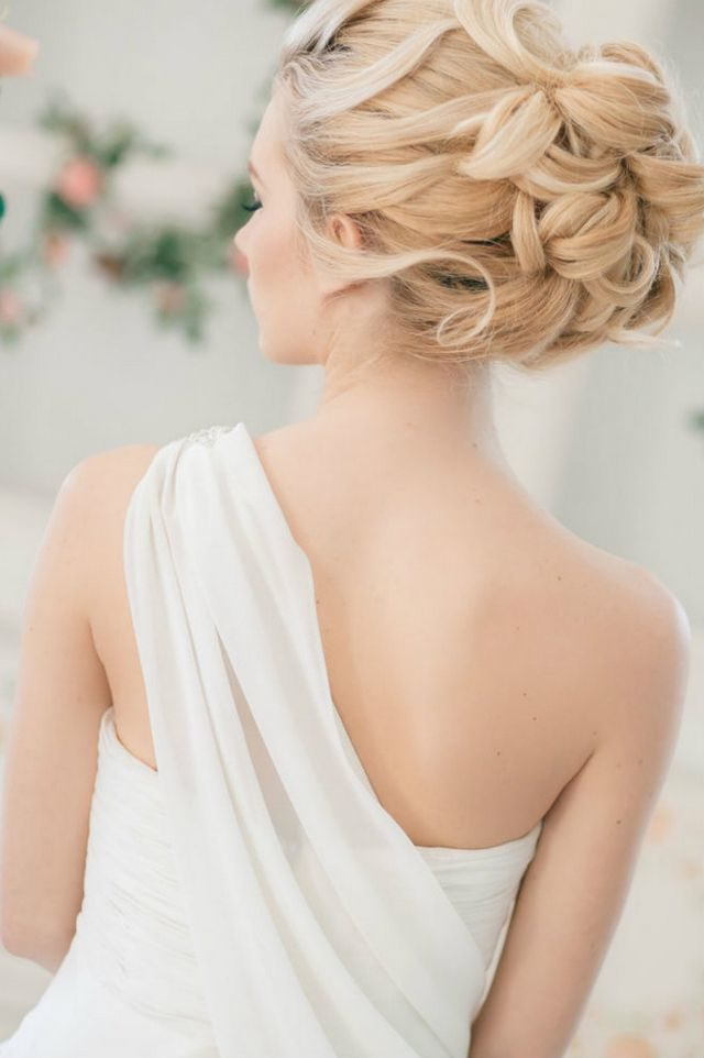 wedding hairstyle for medium hair half up
