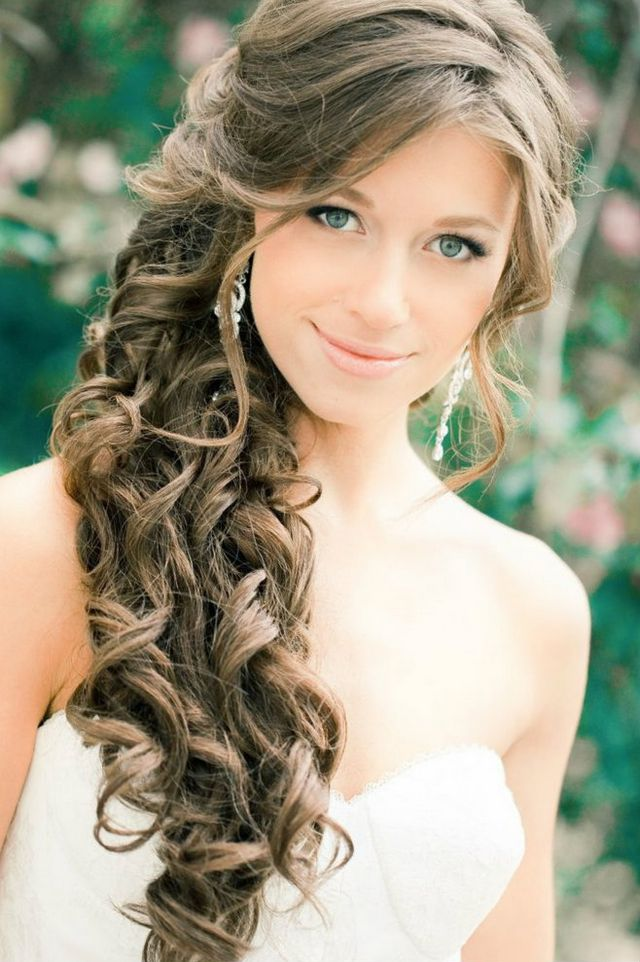 wedding hairstyles curls for long hair