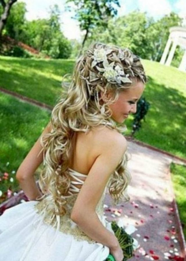 wedding hairstyles for long hair photos