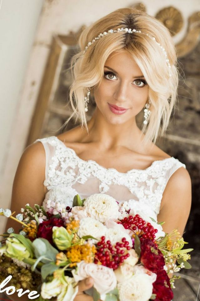 Wedding Hairstyles For Medium Hair Photo