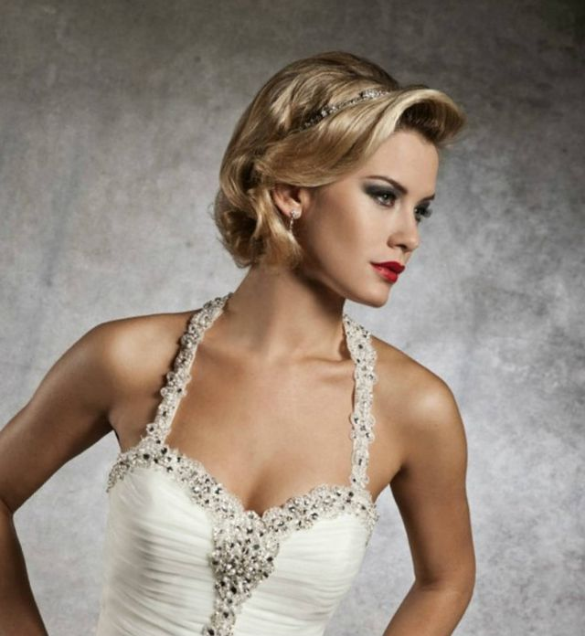 wedding hairstyles for short hair picture