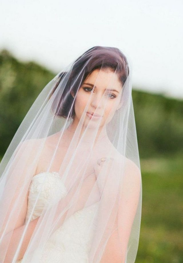 wedding hairstyles with long veil image