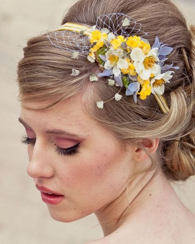 wedding headbands ivory