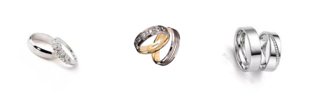 wedding rings for him and her sets