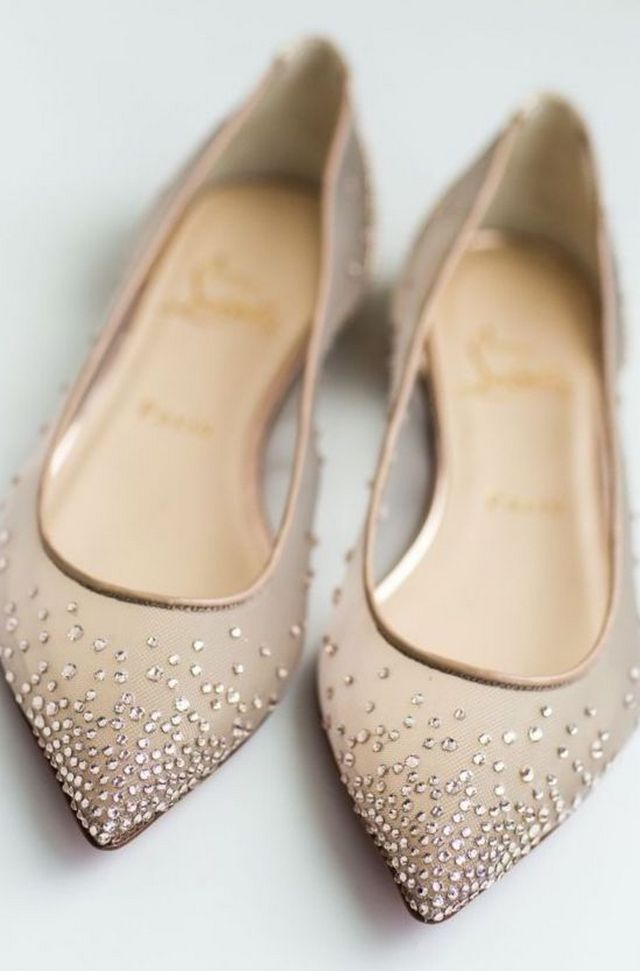 pale wedding shoes not heels