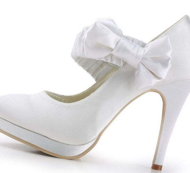 wedding shoes with a platform