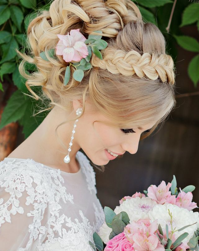 Wedding Updos For Long Hair With Flower