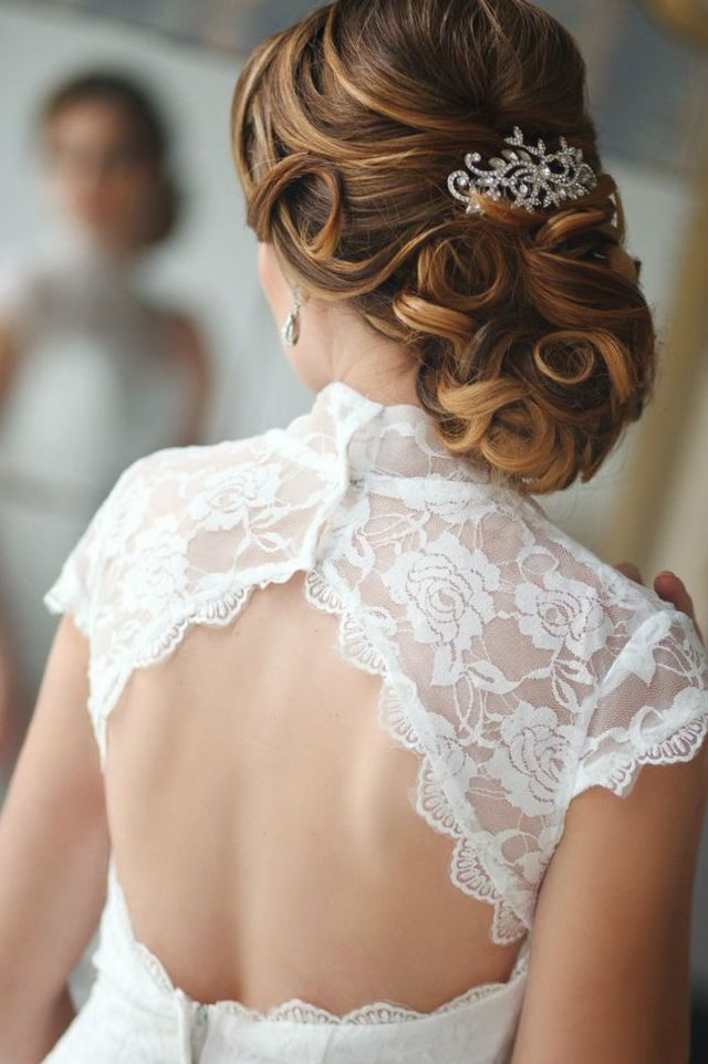wedding updos for medium hair picture