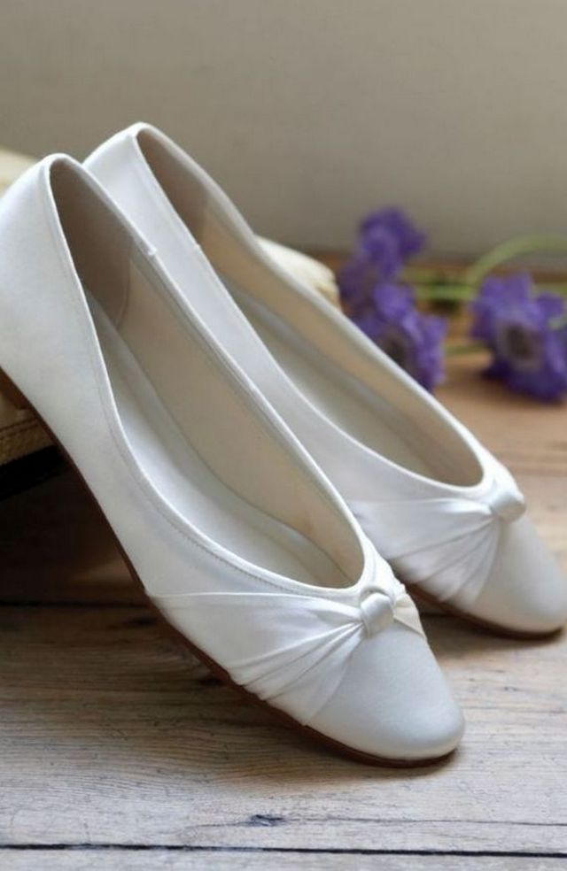 white ballet flats for wedding