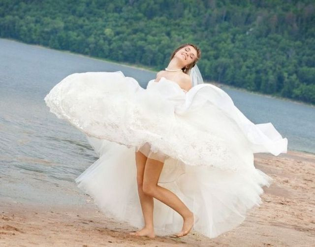 white beach wedding dresses photo