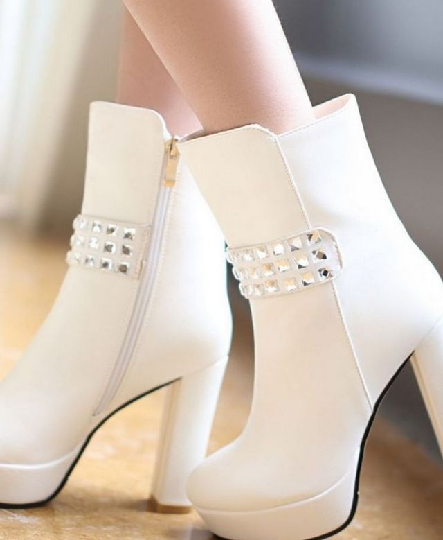 white boots for bridal