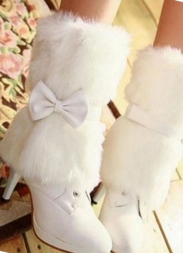 white bridal boots
