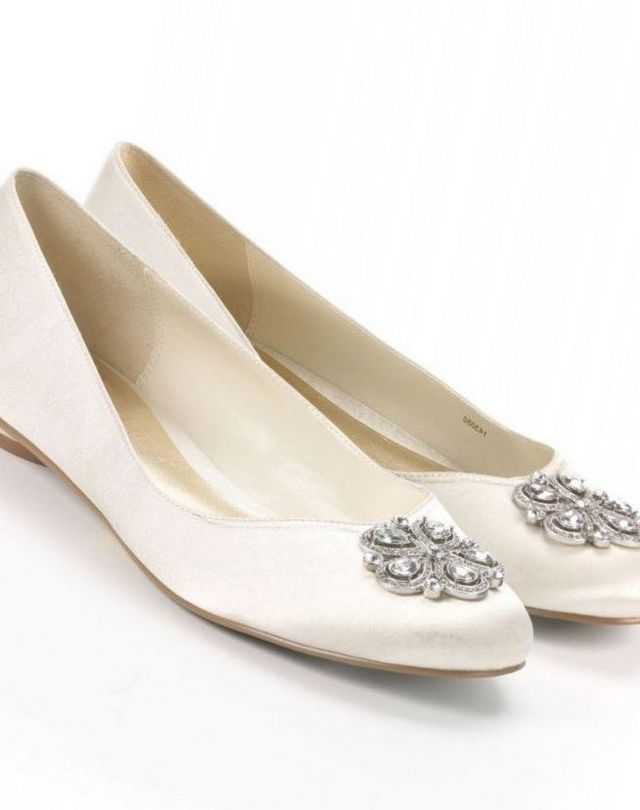 white bridal shoes without heels