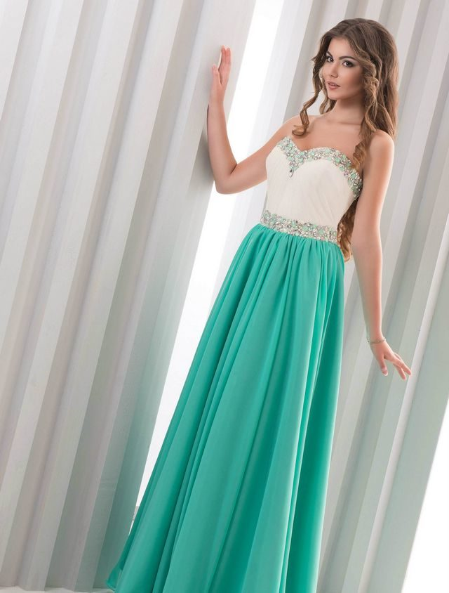 white green wedding dress
