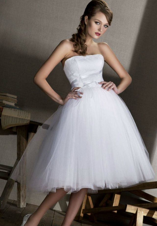 white mini wedding dress