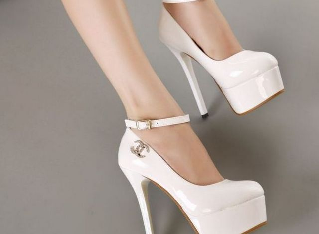 white platform shoes for wedding